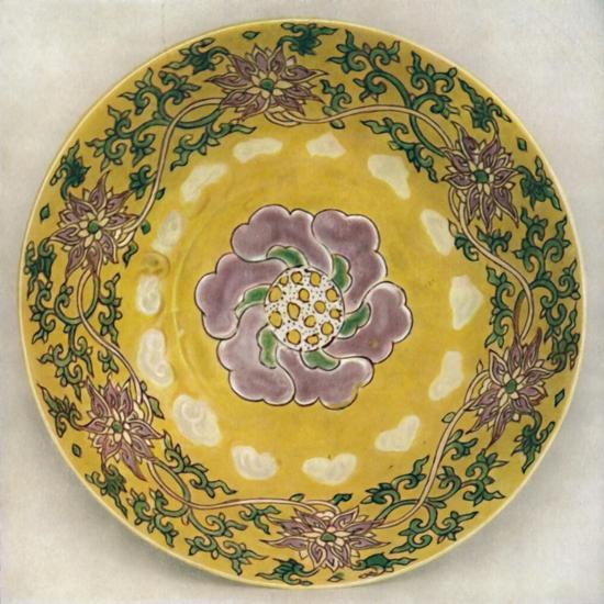 'Chinese Enamel-Painted Porcelain Bowl. Chia Ching Period, 1522-1566', (1928)-Unknown-Giclee Print