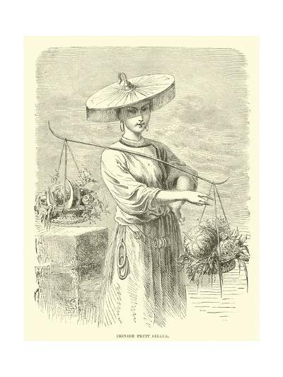 Chinese Fruit Seller--Giclee Print