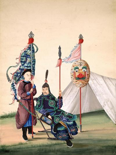 Chinese General with Standard-Bearer, C.1810--Giclee Print