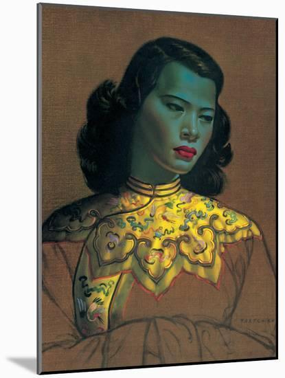 Chinese Girl-Vladimir Tretchikoff-Mounted Premium Giclee Print