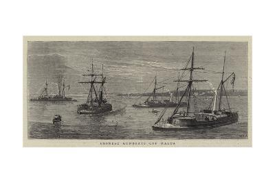 Chinese Gunboats Off Malta-William Edward Atkins-Giclee Print