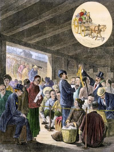 Chinese Immigrants at the San Francisco Custom-Hoouse, 1870s--Giclee Print