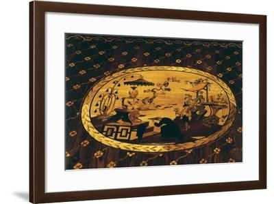 Chinese Inspired Scene, Detail from Writing Desk by Giuseppe Maggiolini--Framed Giclee Print