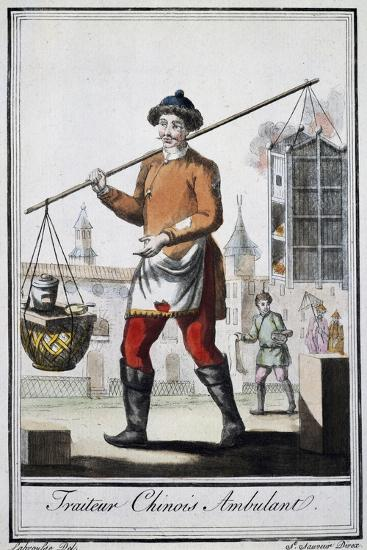 Chinese Itinerant Roaster, 1795, from the Travel Encyclopedia by Saint Sauveur--Giclee Print