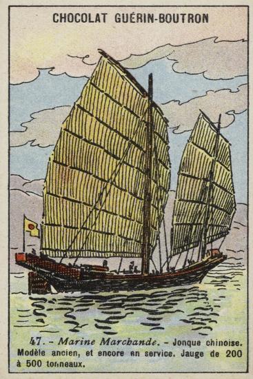 Chinese Junk--Giclee Print