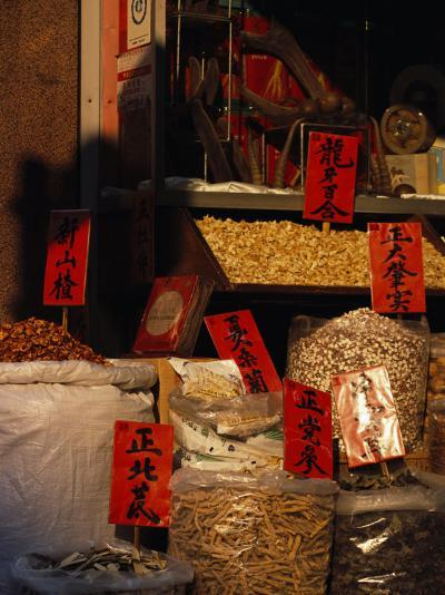 Chinese Medicine and Herbs for Sale in Sheung Wan, Hong Kong-xPacifica-Photographic Print