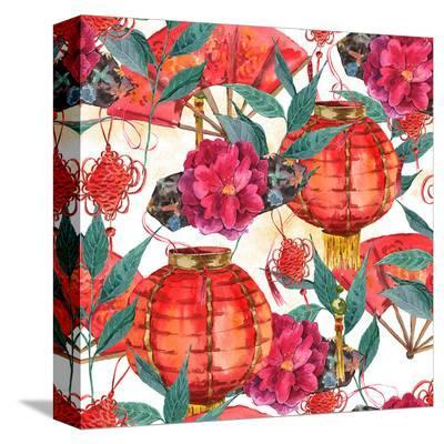 Chinese New Year Elements--Stretched Canvas Print