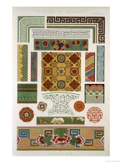 Chinese No 3, Plate LXI, from The Grammar of Ornament by Owen Jones-Owen Jones-Giclee Print