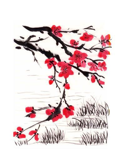 Chinese Painting Blossom-jim80-Art Print