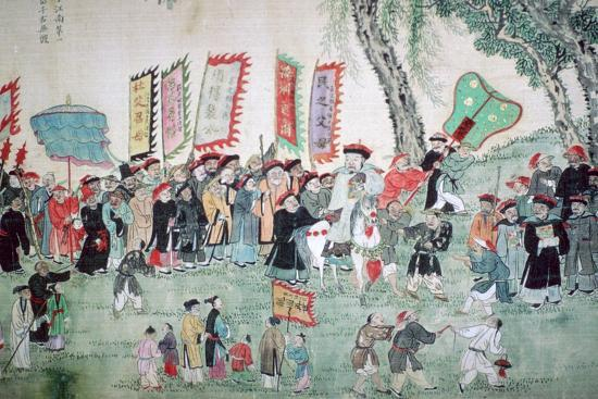 Chinese painting from a series about Chao Hsia. Artist: Unknown-Unknown-Photographic Print