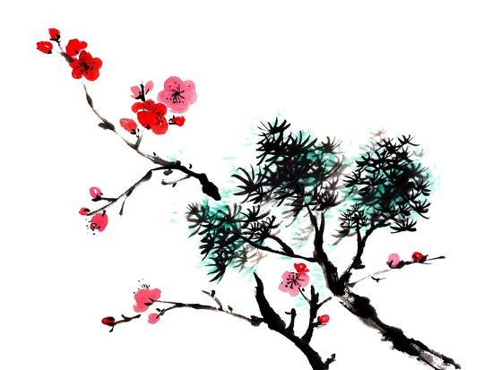 chinese painting flowers