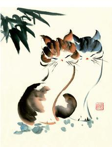 Chinese Pair of Cats