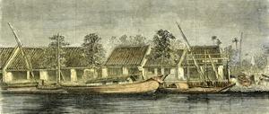 Chinese Part of Saigon Vietnam 19th Century