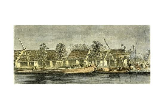 Chinese Part of Saigon Vietnam 19th Century--Giclee Print