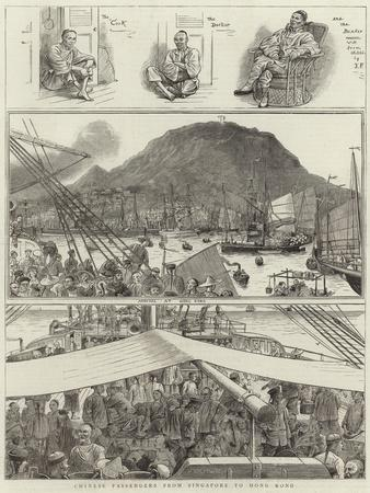 Chinese Passengers from Singapore to Hong Kong--Giclee Print
