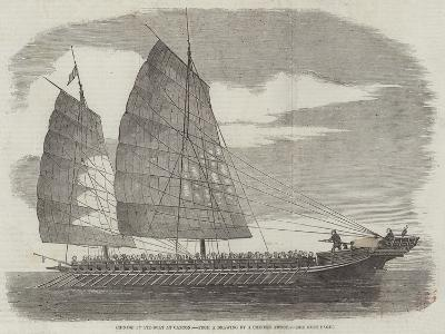 Chinese Pirate-Boat at Canton--Giclee Print