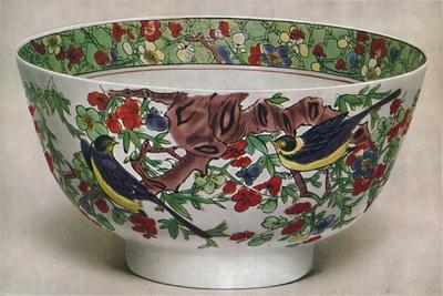 'Chinese Porcelain Bowl. Famille Verte. Period of K'Ang Hsi, 1662-1722', (1928)-Unknown-Framed Giclee Print