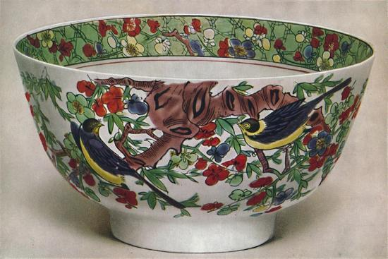'Chinese Porcelain Bowl. Famille Verte. Period of K'Ang Hsi, 1662-1722', (1928)-Unknown-Giclee Print