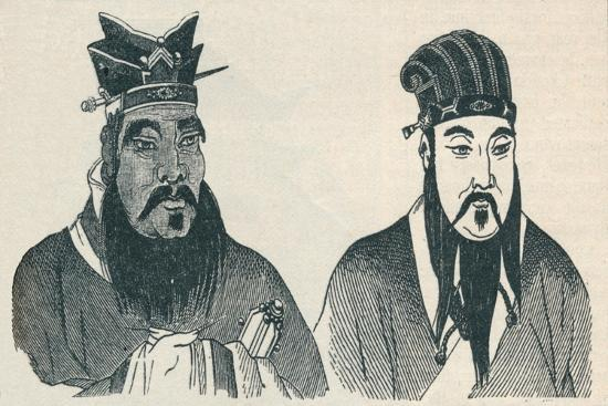 Chinese portraits of Confucius and his great follower Mencius, 1907-Unknown-Giclee Print