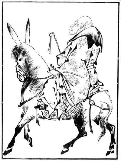 Chinese Priest on a Mule, 15th Century-Shiotoku Shiotoku-Giclee Print