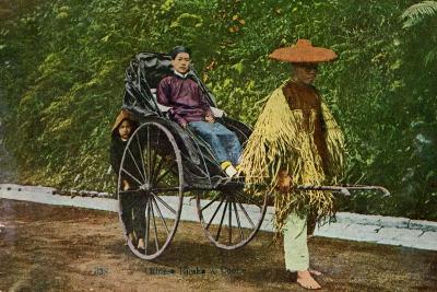 Chinese Rickshaw, 20th Century--Giclee Print