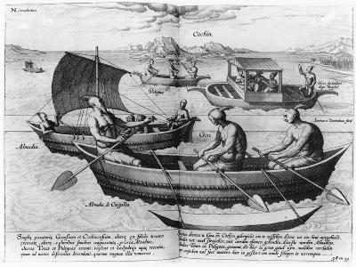 Chinese Sailing Ships--Giclee Print