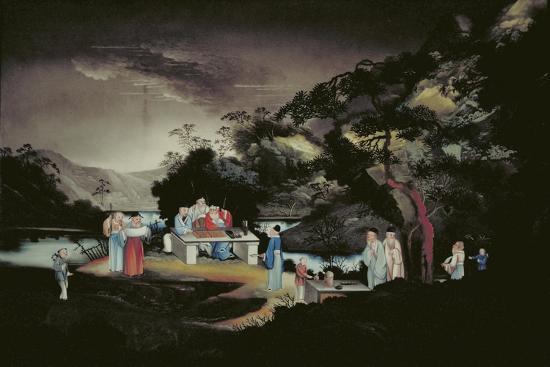 Chinese Scene, C1800-1850--Giclee Print
