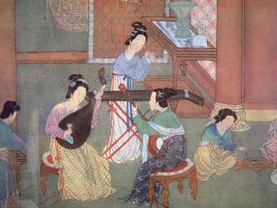 Chinese Lute, Moon Guitar and Table Zither
