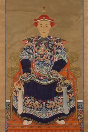 Portrait of Qianlong Emperor As a Young Man, Hanging Scroll