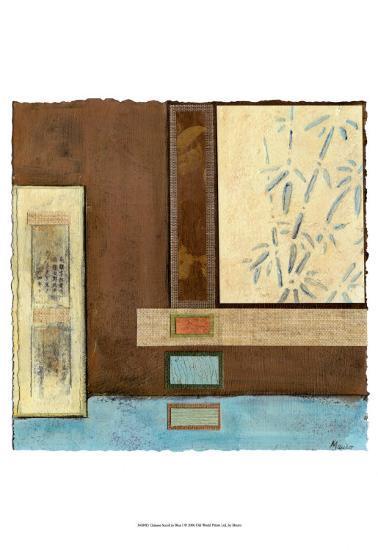 Chinese Scroll in Blue I-Mauro-Art Print