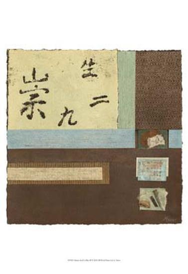 Chinese Scroll in Blue III-Mauro-Art Print