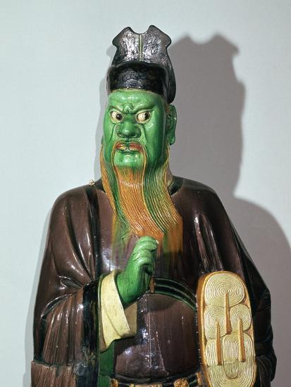 Chinese statuette of a judge of Hell-Unknown-Giclee Print