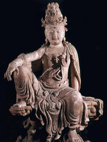 Chinese statuette of Kuan-Yin as a Bodhisattva, 12th century. Artist: Unknown-Unknown-Giclee Print