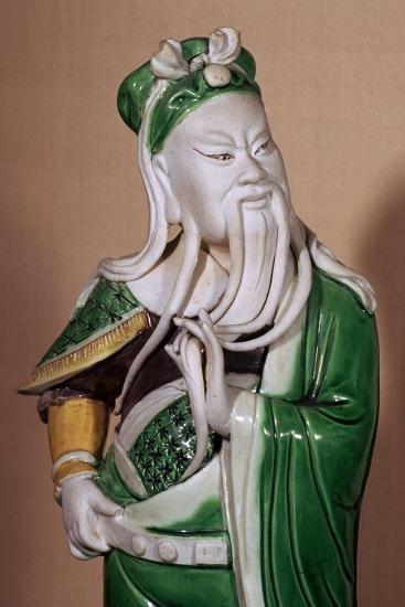 Chinese statuette of the god Kuan-ti, 17th century. Artist: Unknown-Unknown-Giclee Print
