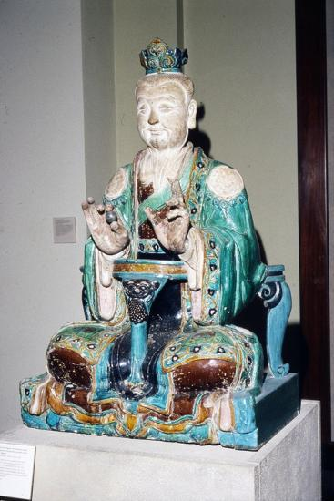 Chinese Stoneware, Seated Daoist Deity, Ming Dynasty, 16th century-Unknown-Giclee Print