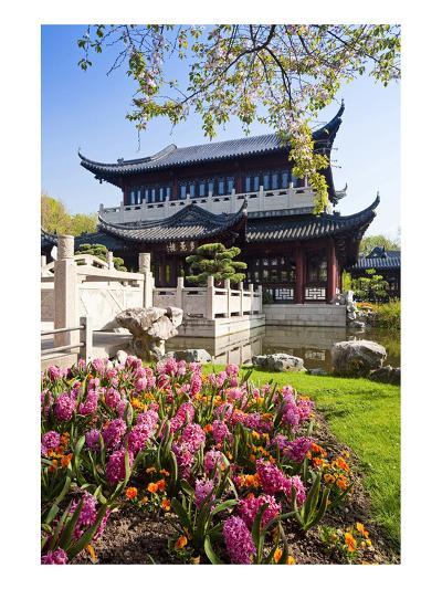 Chinese Tea House in the Chinese Garden, Luisenpark, Mannheim, Baden-Wuerttemberg,Germany--Art Print