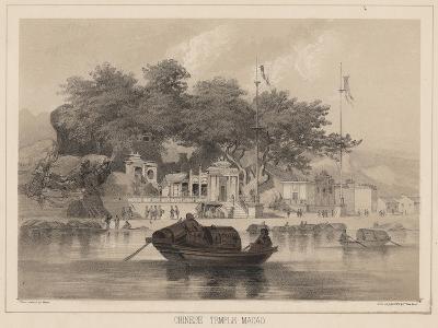 Chinese Temple, Macao, 1855-Wilhelm Joseph Heine-Giclee Print