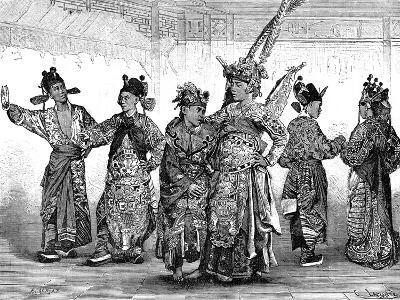Chinese Tragedian Actors, 19th Century-C Laplante-Giclee Print