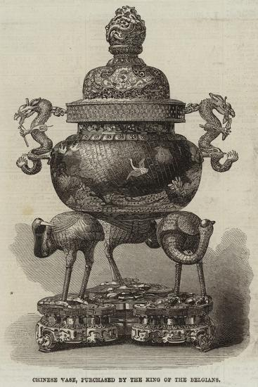 Chinese Vase, Purchased by the King of the Belgians--Giclee Print