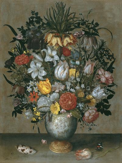 Chinese Vase with Flowers, Shells and Insects-Ambrosius Bosschaert the Elder-Giclee Print