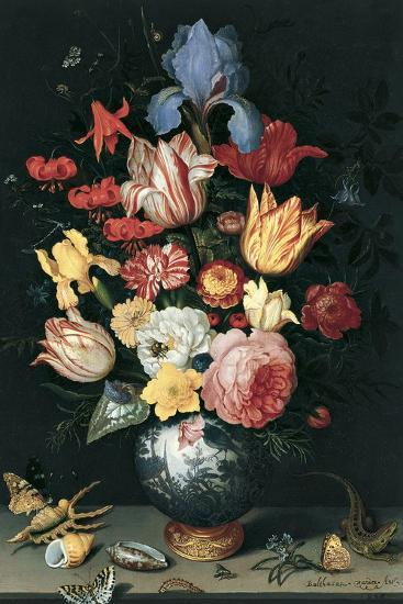 Chinese Vase with Flowers, Shells and Insects-Balthasar van der Ast-Giclee Print