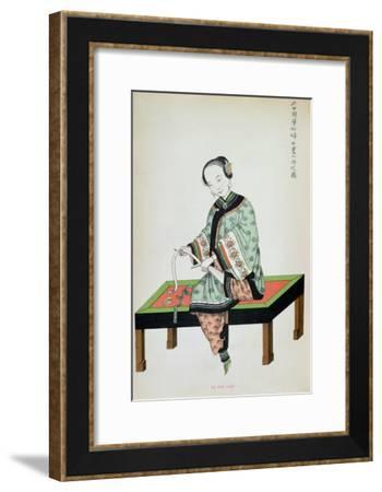 Chinese Woman Binding Her Feet--Framed Giclee Print