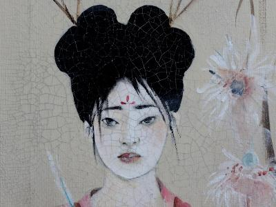 Chinese Women (Triptych) 2015 3 Detail-Susan Adams-Giclee Print