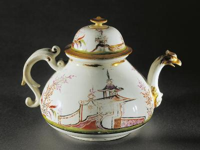 Chinoiserie Decorated Teapot with Griffon-Shaped Spout, 1725--Giclee Print