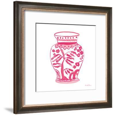 Chinoiserie IV Pink-Farida Zaman-Framed Art Print