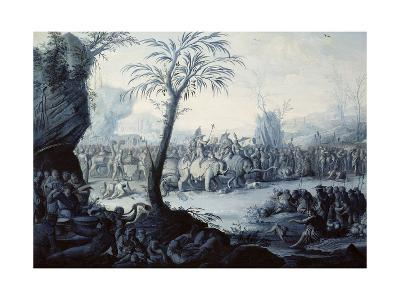Chinoiserie Landscape with Figures and Animals-Jean Baptiste Pillement-Giclee Print
