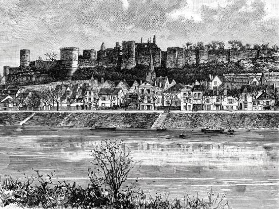 Chinon and the Vienne River, France, 19th Century-Taylor-Giclee Print
