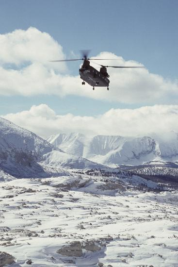 Chinook Search and Rescue Helicopter, Sequoia and Kings Canyon, California, USA-Gerry Reynolds-Photographic Print