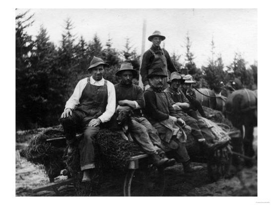 Chinook, WA - Logging Crew-Lantern Press-Art Print