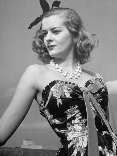 Chintz Used for an Evening Dress, a New Use for This Material-Alfred Eisenstaedt-Photographic Print